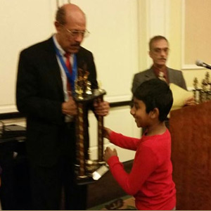 Indian origin student is the first place in chess competition
