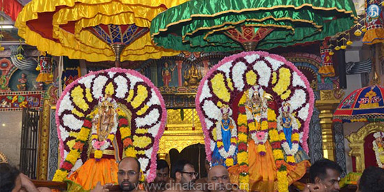 Mahagasavat festival of the year of the year in the temple of Sri Shenbaga Vinayaka of Singapore