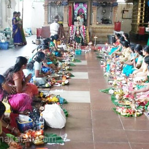 Aadi thiruvilaku Pooja in the temple at Niziera Sri Subramania Swamy Temple