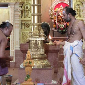 Anjaneyar is a new enthusiast kumbabhishekam at isun Sri Maha Mariamman temple