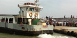 Sea tides are less affected by the furore Boat service in Kanyakumari