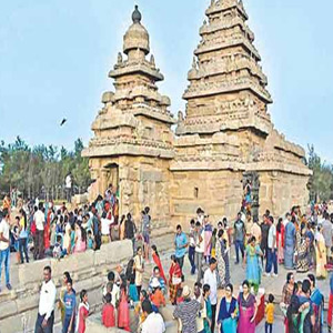 Over 1 lakh tourists visit Mamallapuram in a single day