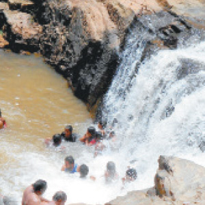 Kollimalai Falls, which is celebrated by rainfall,