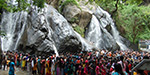 Tourists gathered on the holiday Courtallam