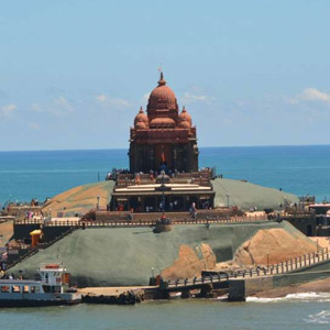 During the summer season, 4.5 lakh people visited the Kanyakumari Vivekananda Mandapam