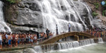 A series of hilly terrain spills over the mountain: Tourists Khushi
