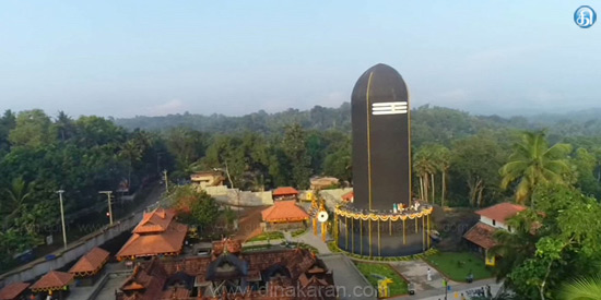 Tourists flocking to see the highest Shiva Lingam in the world
