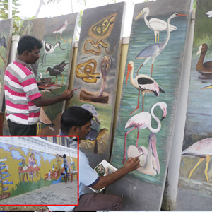 Wall paintings to attract tourists in Puducherry