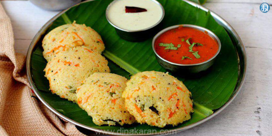 Rava Vegetable Idly