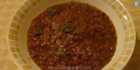 Great lentil curry
