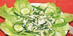 Green salad with French dressing (France)