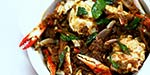 curryleaves Crab Fry